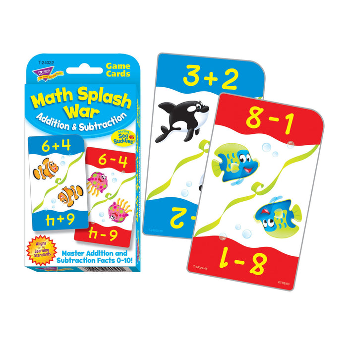 T24022 Game Cards Math Splash War