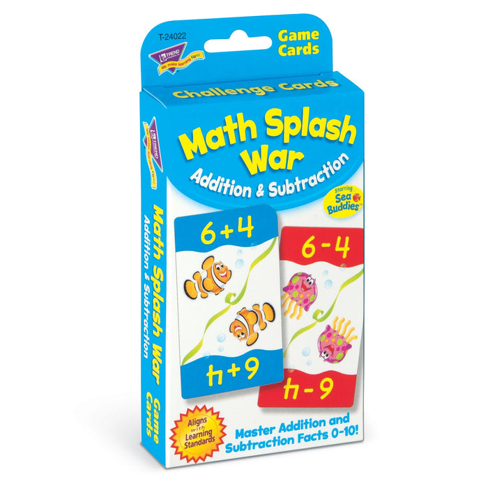 T24022 Game Cards Math Splash War Package Left