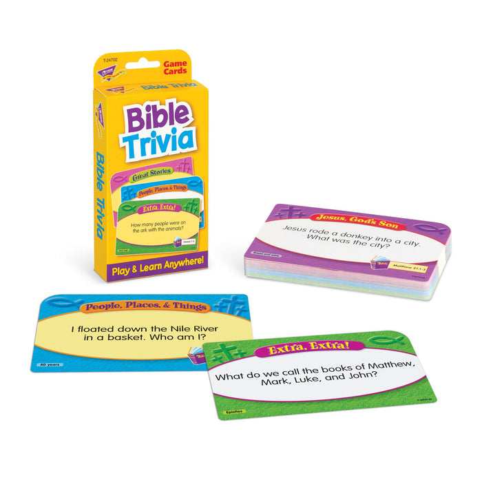 T24702 Game Cards Bible Trivia