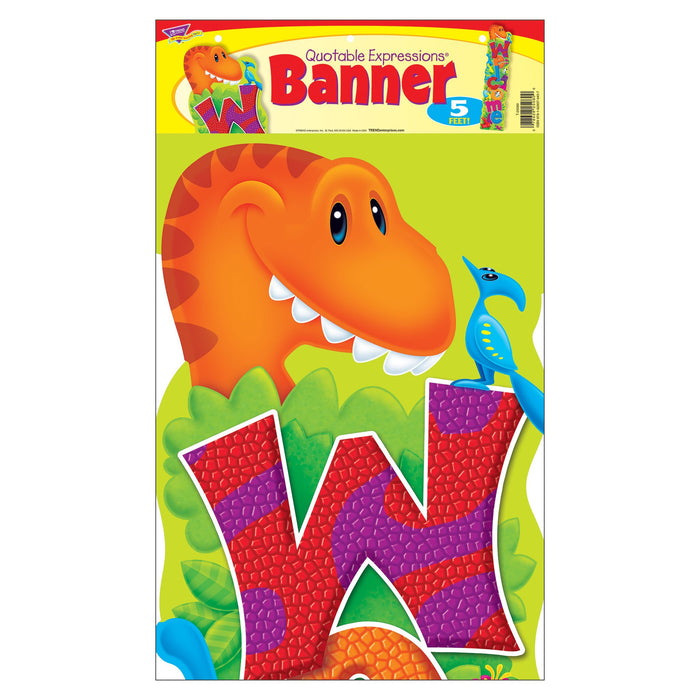T25080 Banner 5 Feet Welcome Dinosaur Pals Package