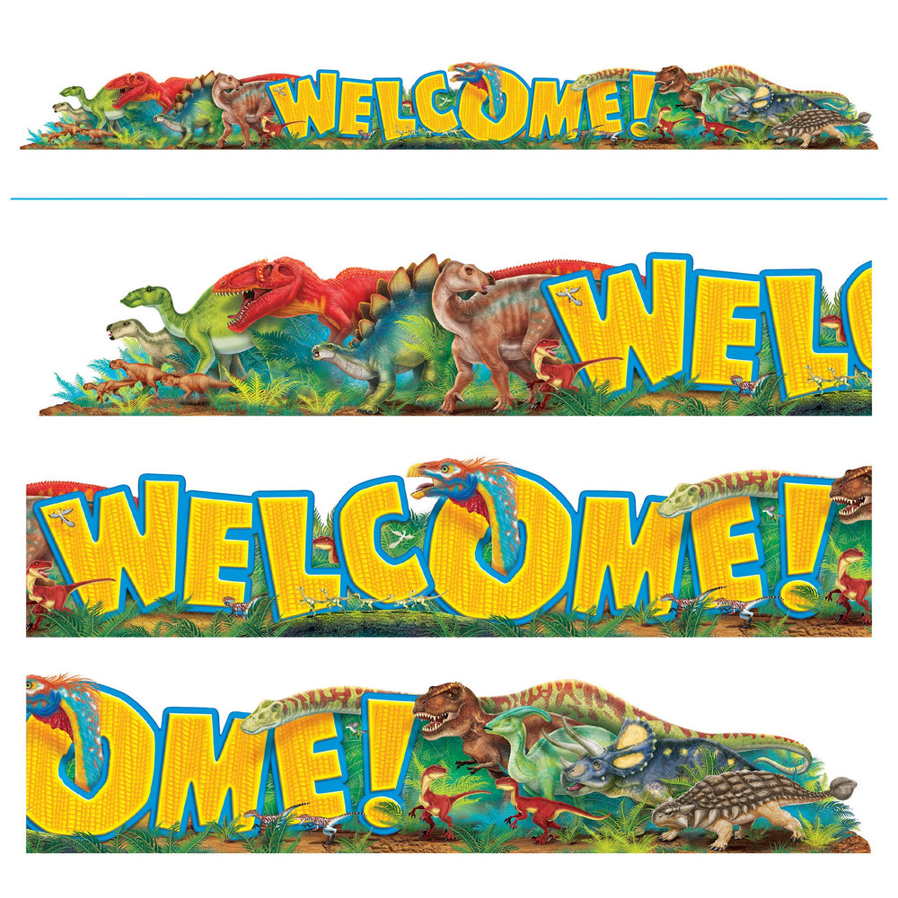 T25081 Banner 10 Feet Welcome Discovering Dinosaurs
