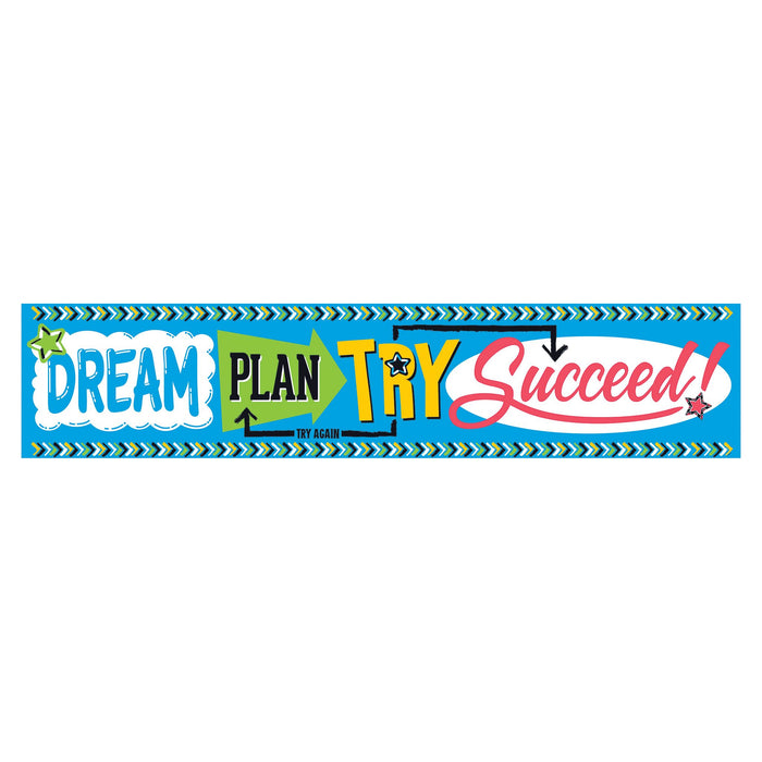 T25095 Banner 5 Feet Dream Plan Try Bold