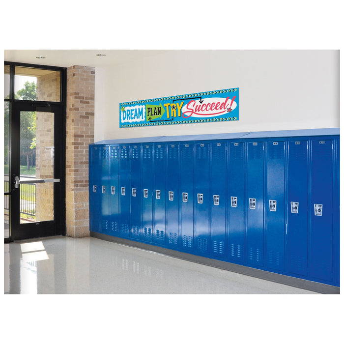 T25095 Banner 5 Feet Dream Plan Try Bold School