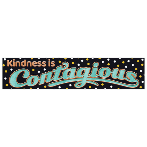 Kindness is Contagious Quotable Expressions® Banner – 3 Feet