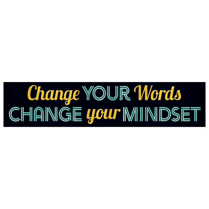 Change Your Words... Quotable Expressions® Banner – 3 Feet