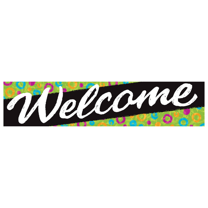 Welcome Swirl Dots Quotable Expressions® Banner – 3 Feet