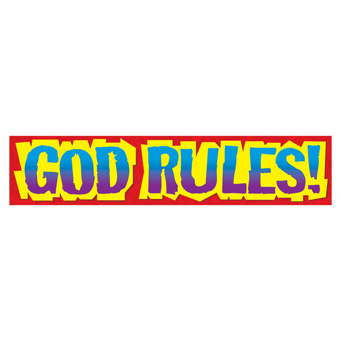 T25705 Banner 5 Feet God Rules