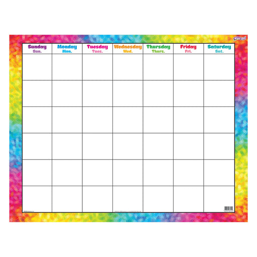 T27011 Wipe Off Calendar Color Brush Stroke