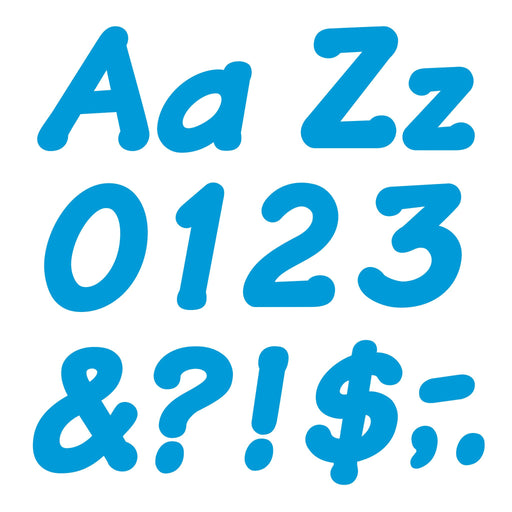 T2702 Letters 4 Inch Italic Blue