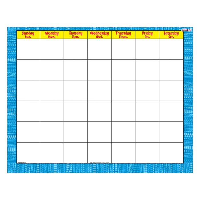 T27027 Wipe Off Calendar Reptile Blue