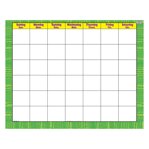 T27028 Wipe Off Calendar Reptile Green