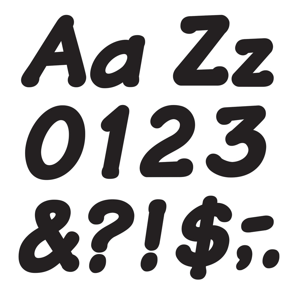 T2703 Letters 4 Inch Italic Black