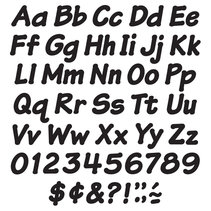 T2703 Letters 4 Inch Italic Black Alphabet