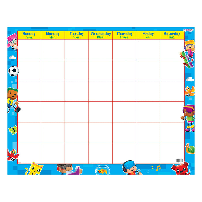 T27031 Wipe Off Calendar Block Star Kids