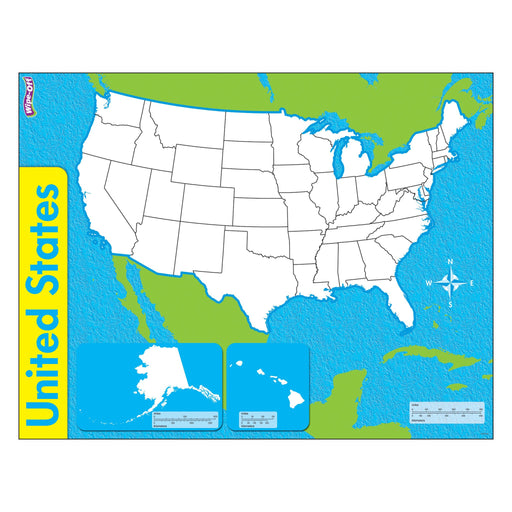 T27301 Wipe Off Map United States
