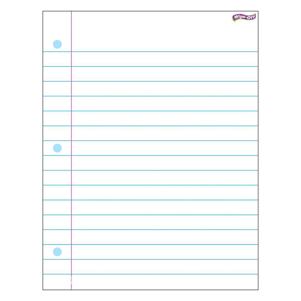 T27308 Wipe Off Chart Notebook Paper