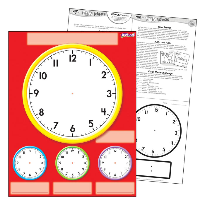 T27312 Wipe Off Chart Clocks