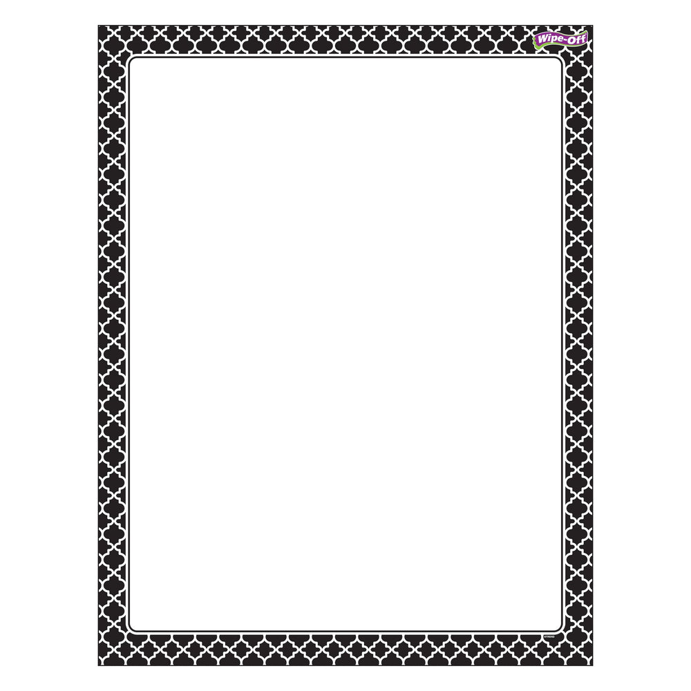 T27321 Wipe Off Chart Moroccan Black