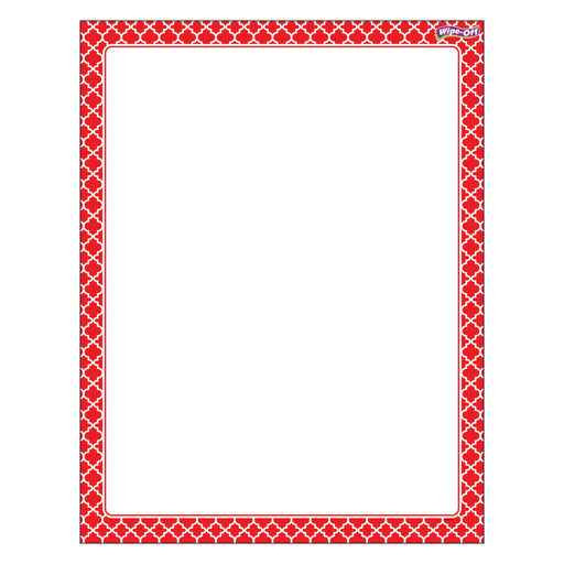T27323 Wipe Off Chart Moroccan Red