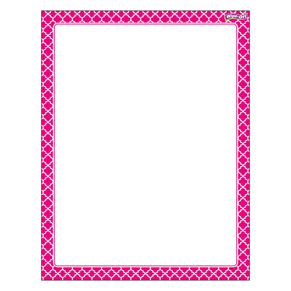 T27326 Wipe Off Chart Moroccan Pink
