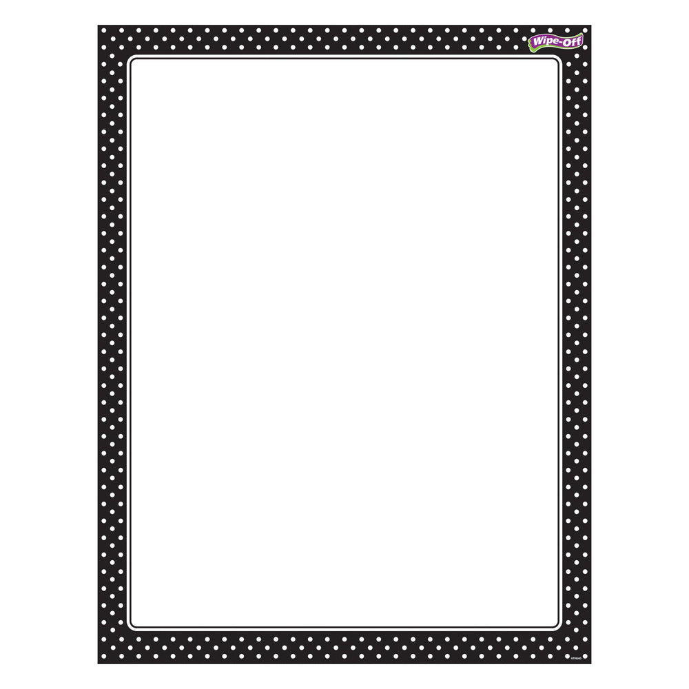 T27331 Wipe Off Chart Polka Dots Black