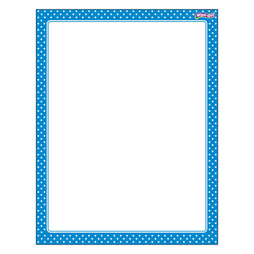 T27332 Wipe Off Chart Polka Dots Blue