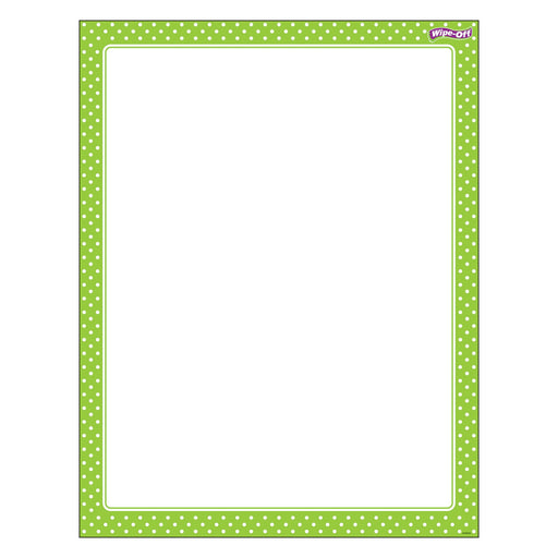 T27333 Wipe Off Chart Polka Dots Lime