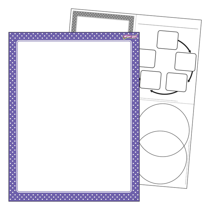 T27334 Wipe Off Chart Polka Dots Purple