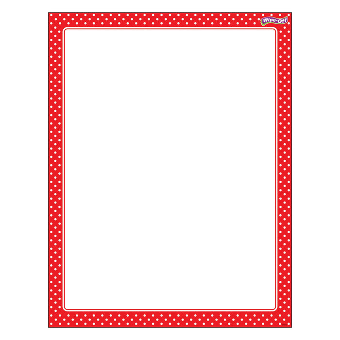 T27335 Wipe Off Chart Polka Dots Red