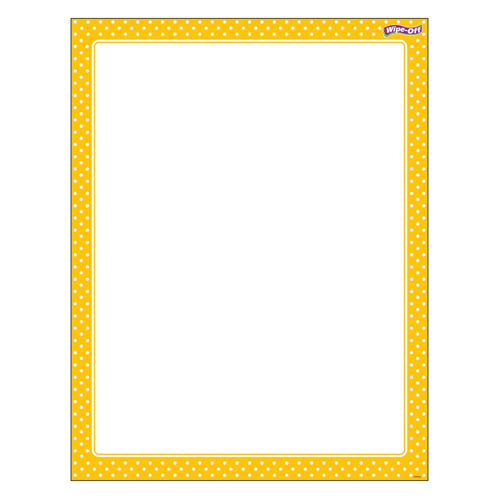 T27336 Wipe Off Chart Polka Dots Yellow
