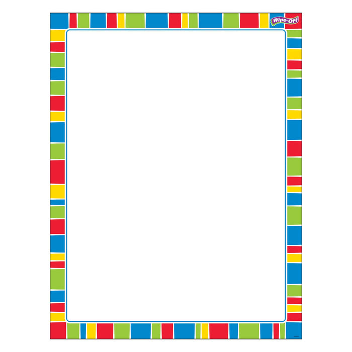 T27344 Wipe Off Chart Stripe Cheerful