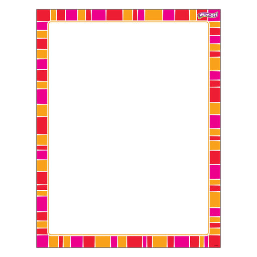 T27346 Wipe Off Chart Stripe Snazzy Red