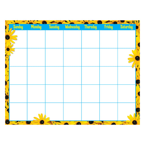 Black-Eyed Susans Wipe-Off® Calendar – Monthly