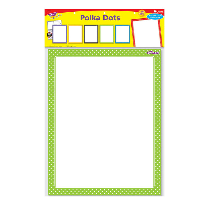 T27908 Wipe Off Chart Pack Polka Dots Package