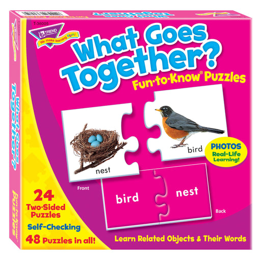 T36005 Puzzle What Goes Together Box Front