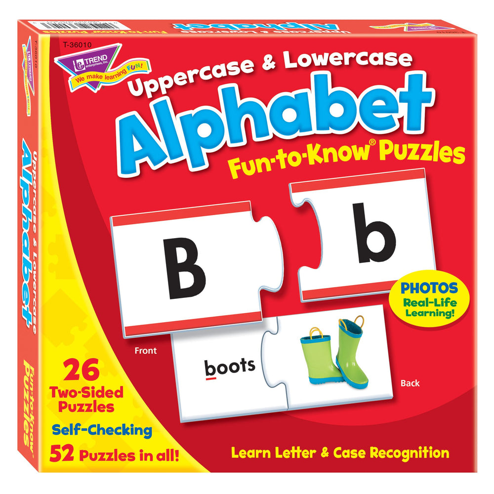 T36010 Puzzle Uppercase Lowercase Alphabet Box Front
