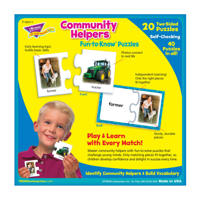 T36011 Puzzle Community Helpers Box Back