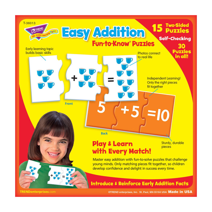 T36013 Puzzle Easy Addition Box Back