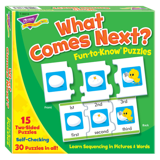 T36016 Puzzle What Comes Next Box Front