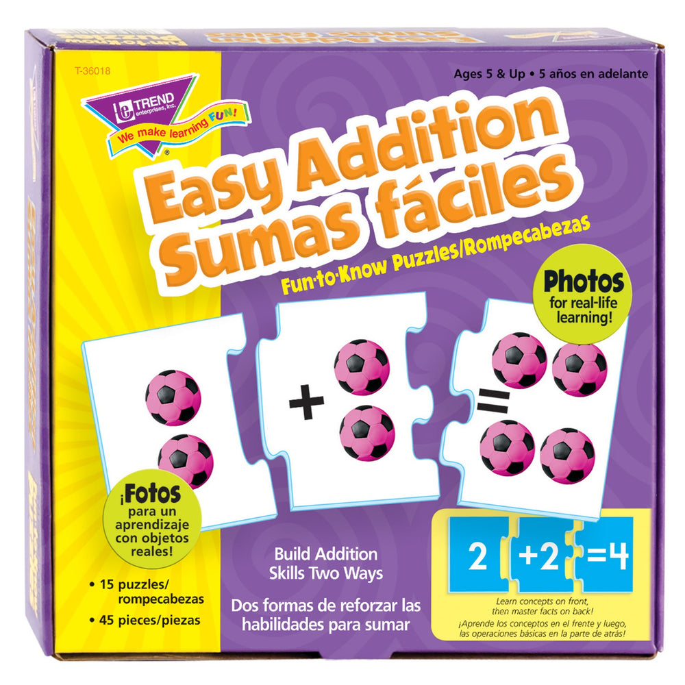 T36018 Puzzle Easy Addition Spanish Box Front