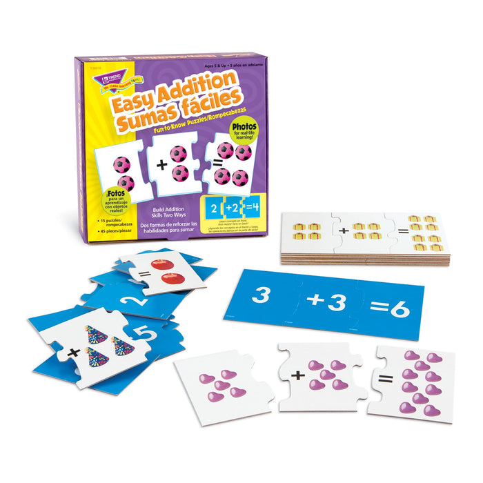 T36018 Puzzle Easy Addition Spanish