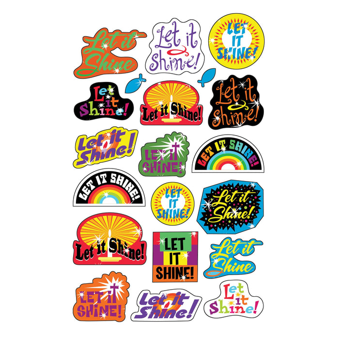 T37705 Stickers Foil Let It Shine