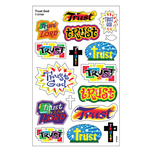 T37709 Stickers Foil Trust God