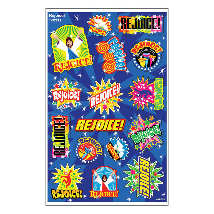 T37712 Stickers Foil Rejoice