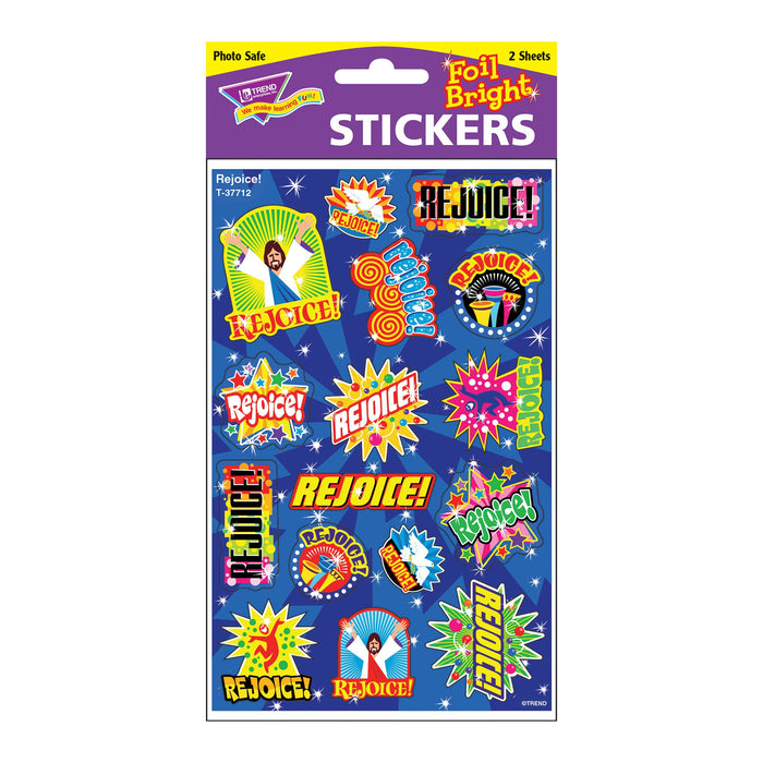 T37712 Stickers Foil Rejoice Package