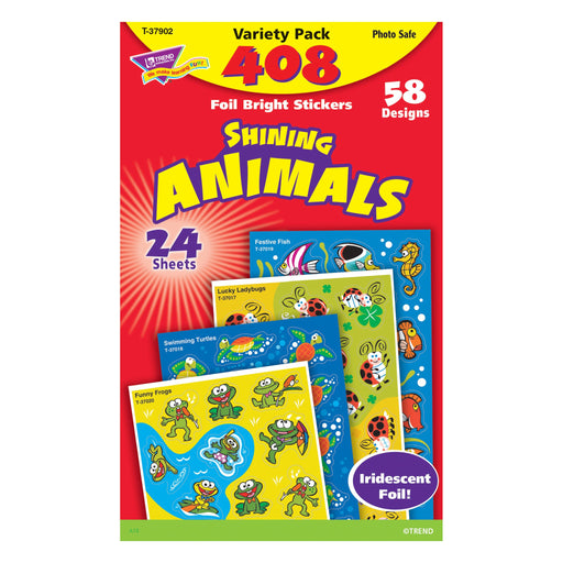 T37902 Sticker Variety Pack Shining Animals