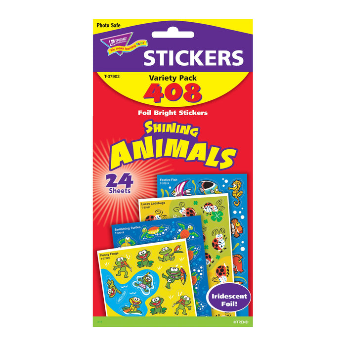T37902 Sticker Variety Pack Shining Animals Package
