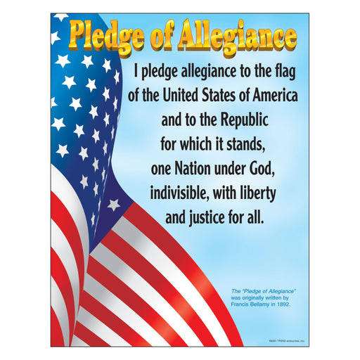 T38004 Learning Chart Pledge Allegiance