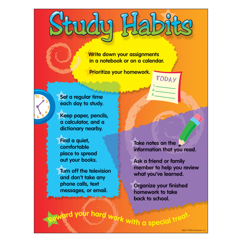 T38008 Learning Chart Study Habits