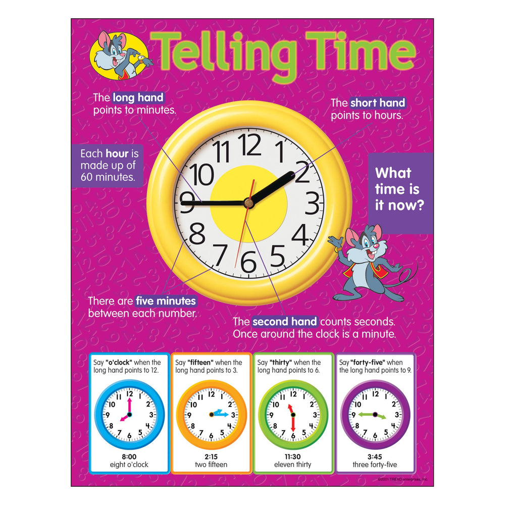 T38014 Learning Chart Telling Time